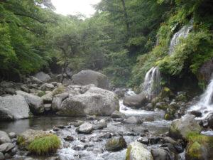 渓流と滝イメージ