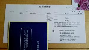 日本郵政配当金計算書20170626