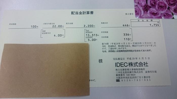 IDEC配当金支払通知書201706006
