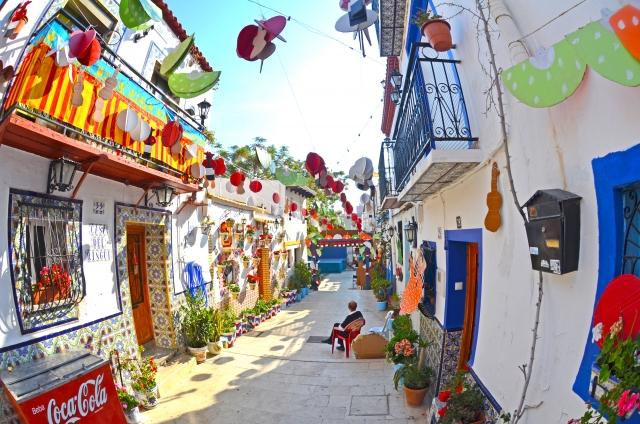 スペインの小路の風景20170705