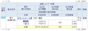 日本バルカー工業売却20170713