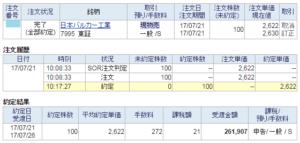 日本バルカー工業売却20170721