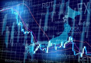 日本株下落イメージ
