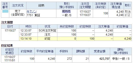 キヤノン売却画面イメージ20171027