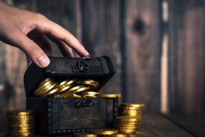 宝箱と金貨イメージ20171024