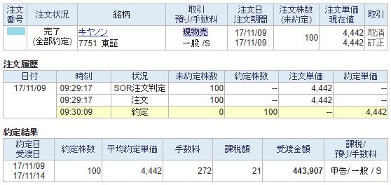 キヤノン売却画面イメージ20171109