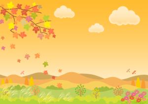 秋の自然の風景イラスト20171102