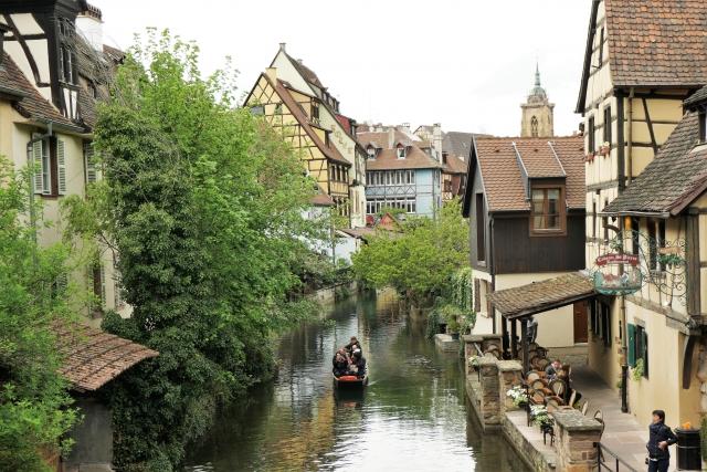 ドイツ国境の町フランスコルマール街並みイメージ20180111