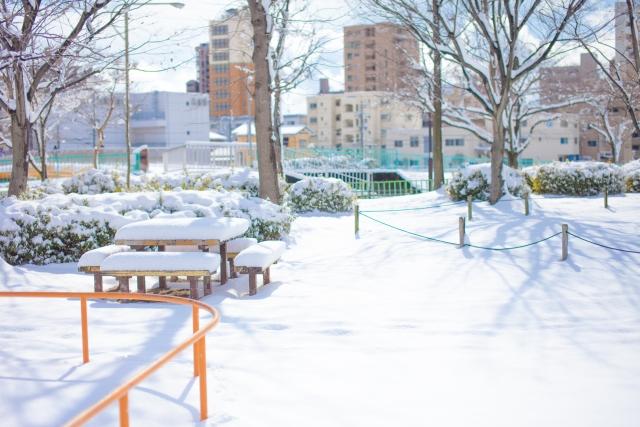 寒波による雪景色イメージ200180112