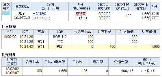 日新製鋼購入画面イメージ20180202