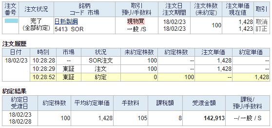 日新製鋼購入画面イメージ20180223