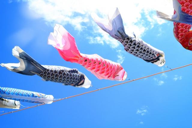 こどもの日の鯉のぼりイメージ20180427