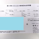 10万円超えの配当金は嬉しい!キヤノンとスペースから期末配当を受け取り