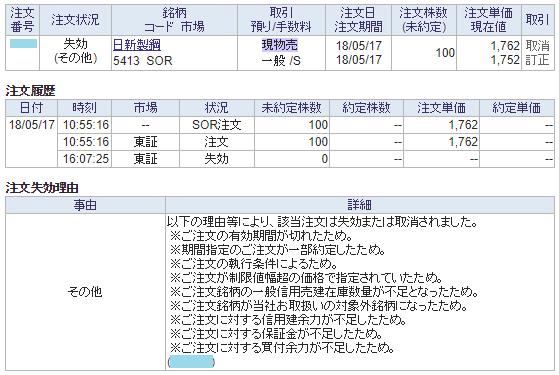 日新製鋼売却不出来画面イメージ20180517