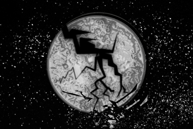 地球が真っ二つのイメージ20180906