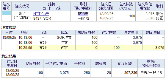 NTTドコモ売却画面イメージ20180925