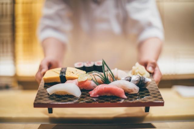 高級店の寿司のイメージ20181026