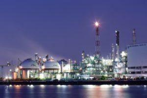 石油コンビナートの夜景イメージ20181105