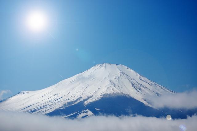 富士山と初日の出のイメージ20190104
