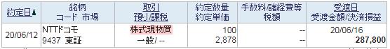 ドコモ買い20200612