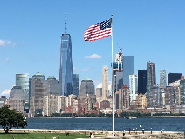 アメリカ国旗とWTC20201106