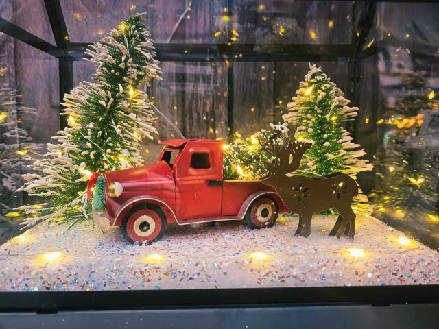 ガラスケースの中のクリスマス20201225