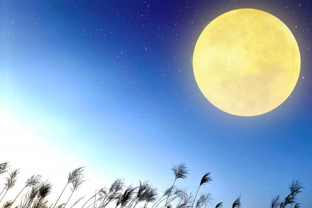 十五夜お月様のイメージ20210928